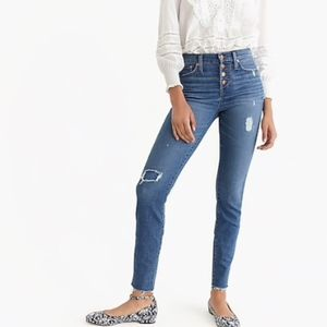 """J. Crew 9"""" High-Rise Toothpick Button Fly Jeans"""